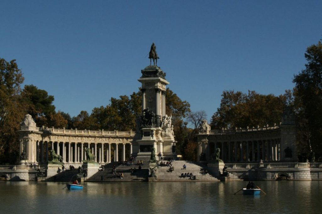 Monument to Alfonso XII in Retiro Park