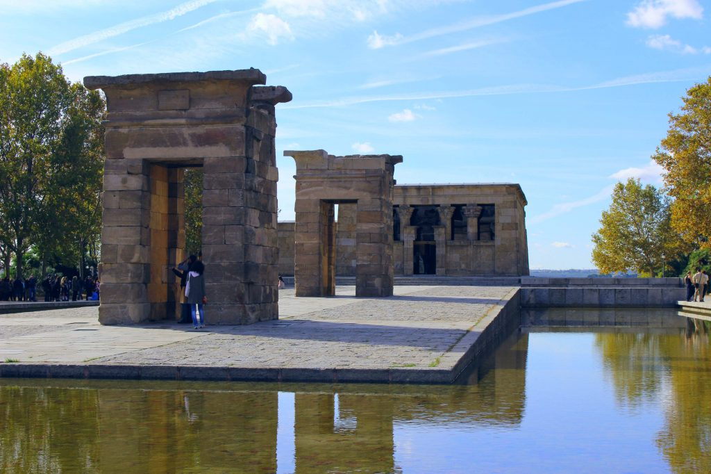 Madrid Temple of Debod early afternoon Spain