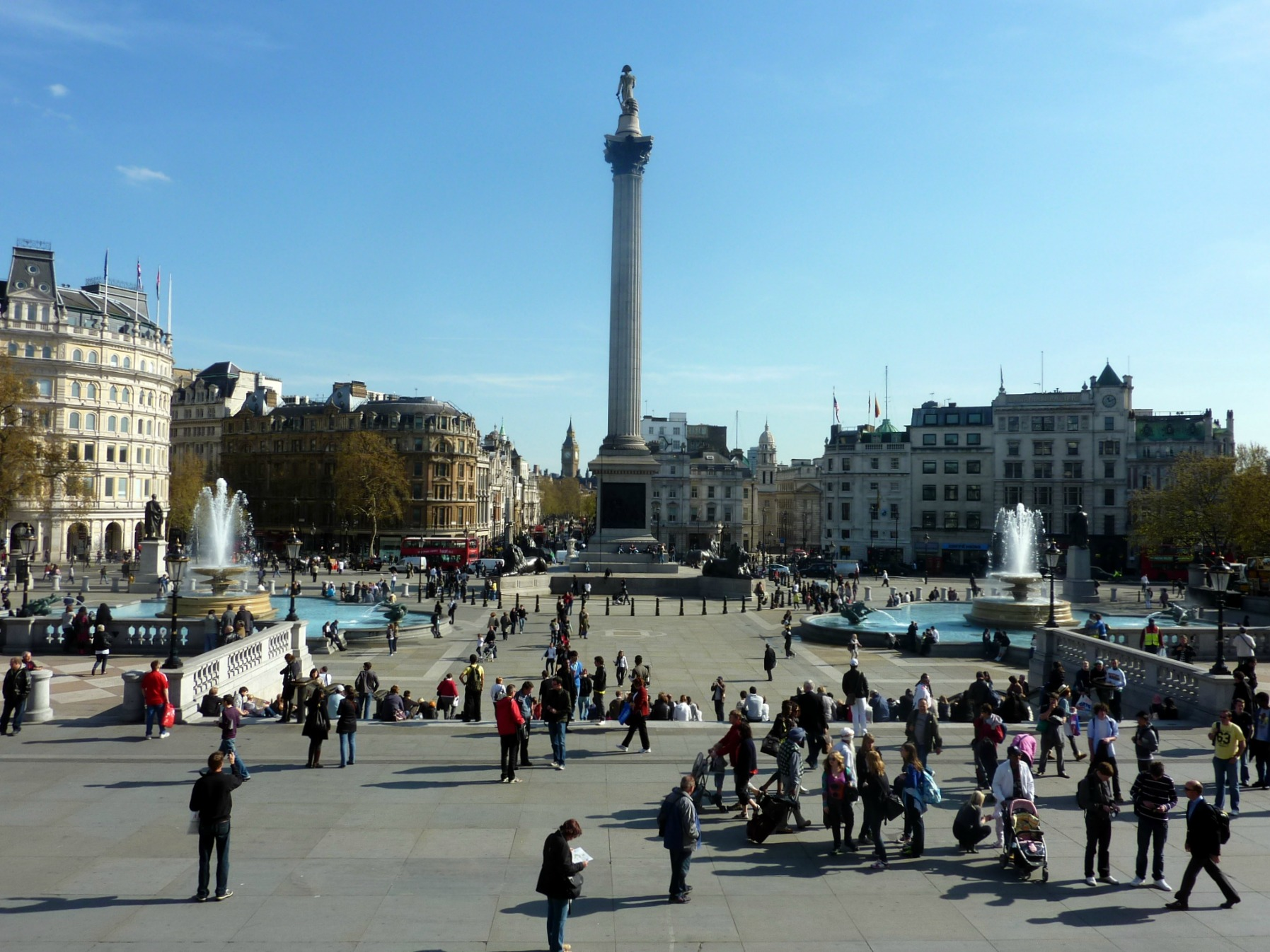 Trafalgar Square in October
