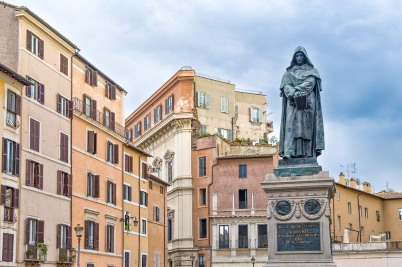 Campo De Fiori  statue Giordano