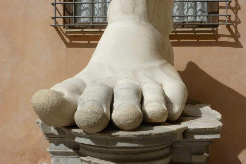 Rome giant foot Colossus of Constantine