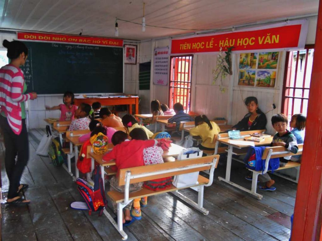 Halong Bay fishing village school