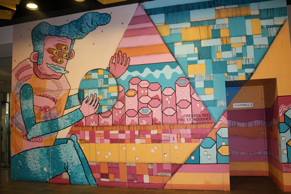 Perth Street Art Mural in mall Kyle Odgers