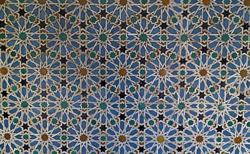 tiles in the Real Alcarar Spain