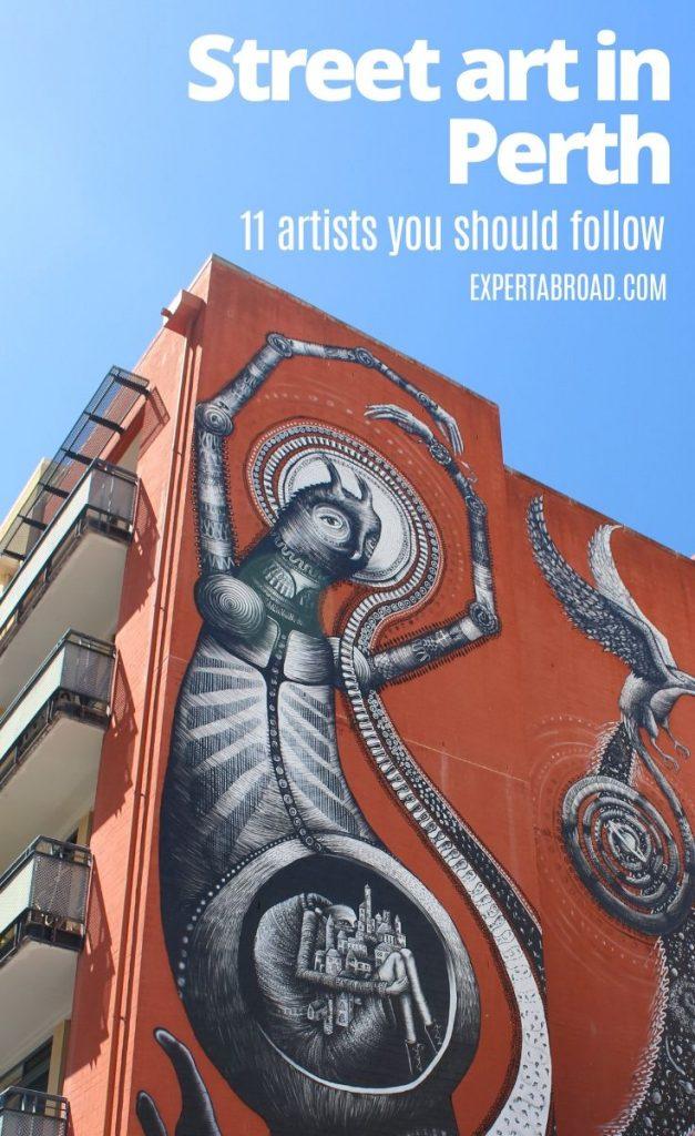 Street art in Perth CBD
