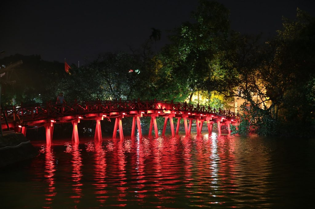 Hanoi Lake Red Bridge