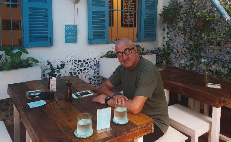 Artillery Arts Cafe outdoor seating phnom penh