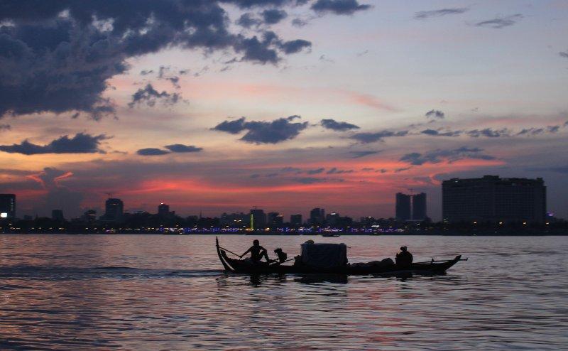 Fisherman in Phnom Penh Cambodia