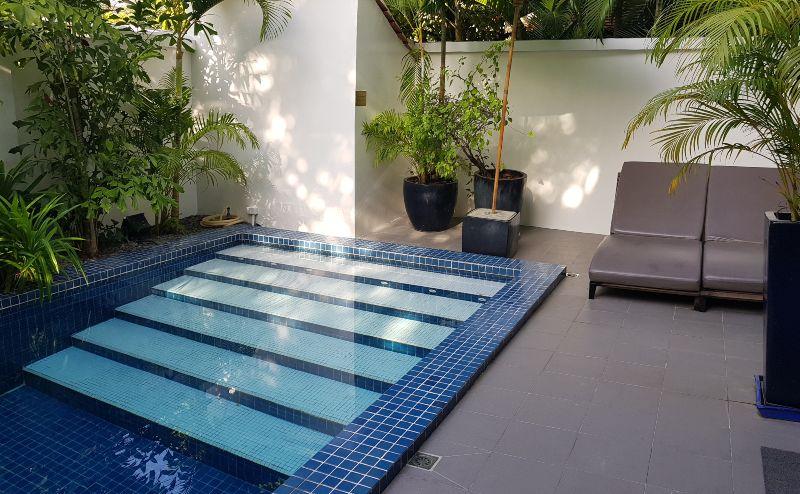 Private pool area at Pavillion Hotel Phnom Pehn