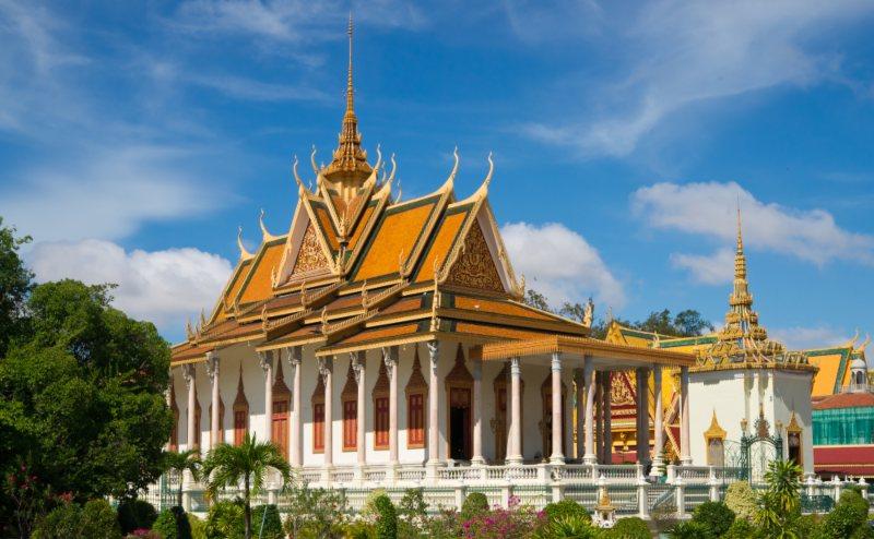 Silver Temple Phnom Pehn Cambodia