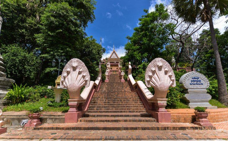 Wat Phnom Temple Cambodia Steps