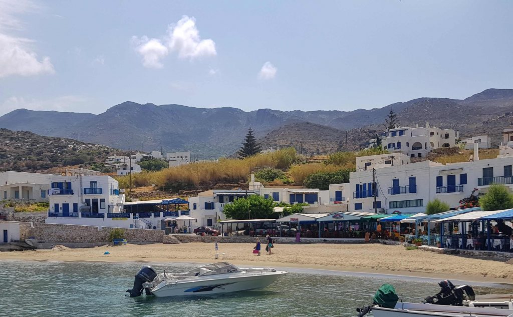 the bay at Apollonas Naxos