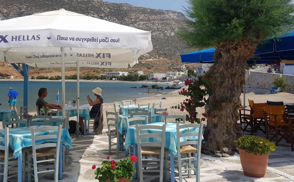 Beach cafe in Naxos