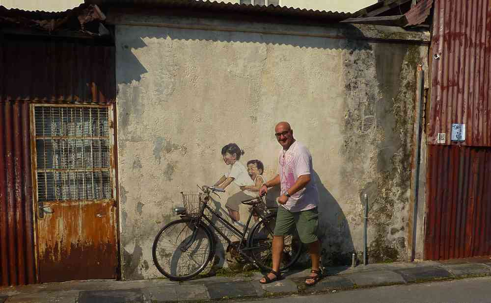 Penang Street Art Malaysia Bicycle