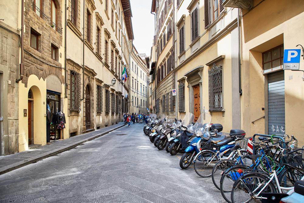 Street view in Florence