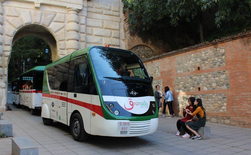 Granada Spain hop on hop off bus or train