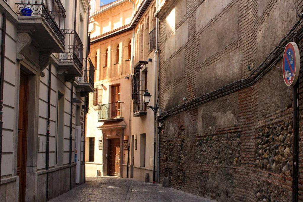 narrow street in the Albaicin Granada Spain
