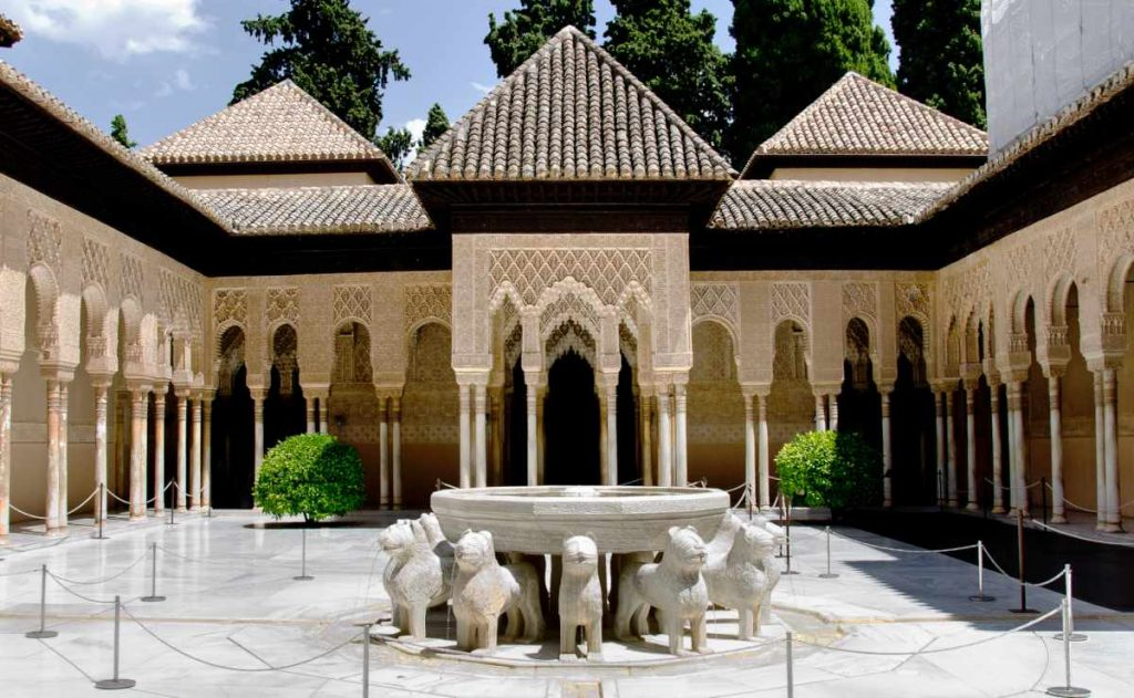 Pallacios Nazaries in granada Spain - lion fountain