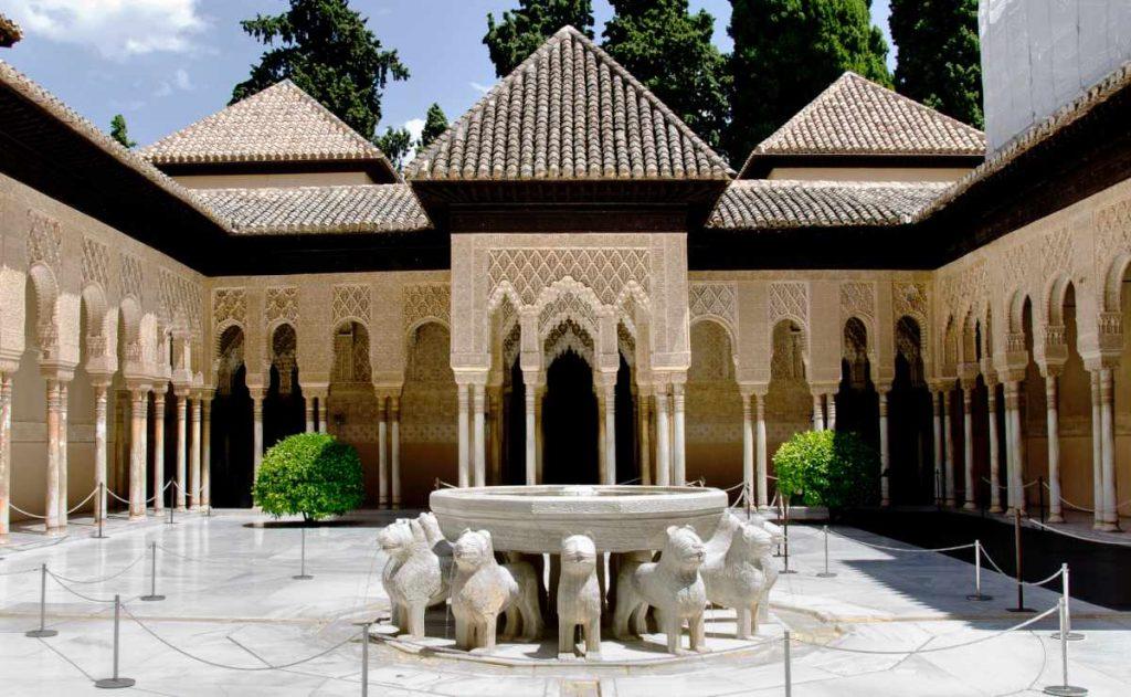 Pallacios Nazaries in granada Spain - lion fountain