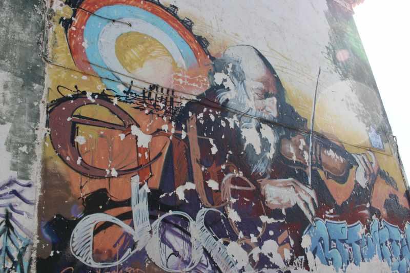 Street art by Raúl Ruiz, AKA El Niño de las Pinturas
