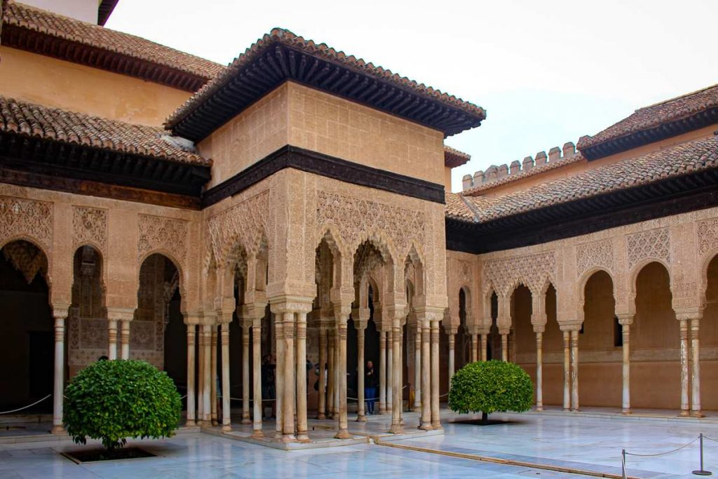 The Palace of the Lions in the Alhambra Granada Spain