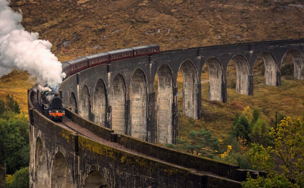 Glenfinnan Viaduct Scotland train