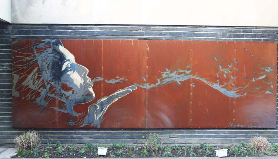 Blowing Mural by C215 Paris 13