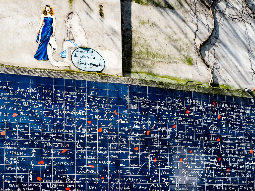 The Wall of Love in Montmarte Paris