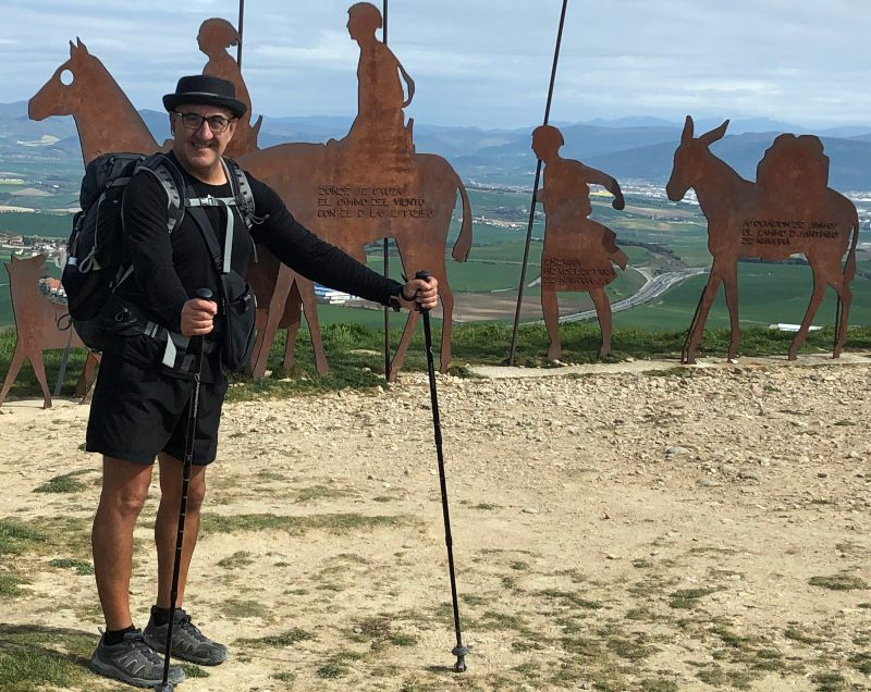 Alto del Perdon Spain Camino sculpture