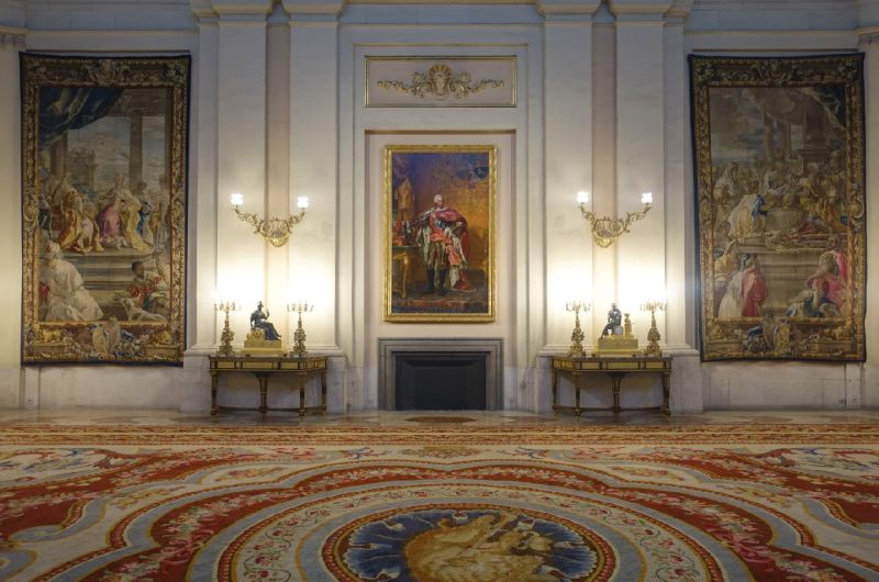 Interior of the Royal Palace in Spain