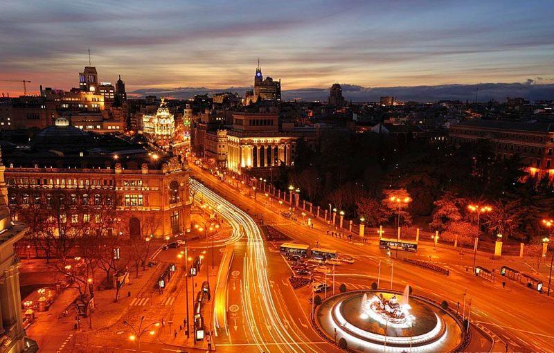 Cibeles Rooftop view of Madrid Spain