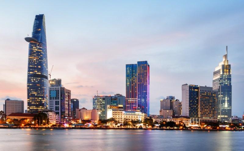 Saigon Ho Chi Min City Vietnam skyline