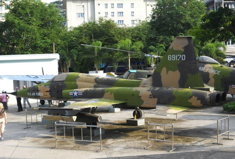 Airforce jet at saigon war museum