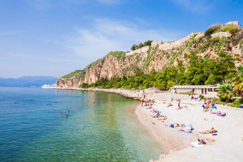 Town Beach in Nafplio Greece