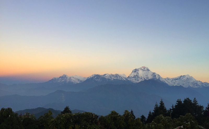 View on multi day hike to Poon Hill Nepal