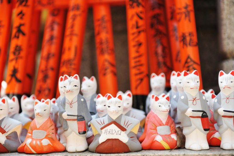 Kyoto Temple foxes