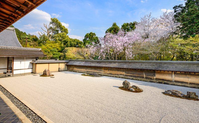Ryoan-ji Temple zen rock garden i