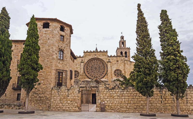 a day trip to Benedictine monastery in Sant Cugat, Spain